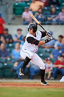 Arkansas Travelers catcher Marcus Littlewood at bat during a game against the Midland RockHounds on May 25, 2017 at Dickey-Stephens Park in Little Rock, Arkansas.  Midland defeated Arkansas 8-1.  (Mike Janes/Four Seam Images)