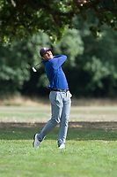 Hugo Leon plays his approach shot at the 17th during the final round of the  Bridgestone Challenge, Luton Hoo Hotel, Bedfordshire, England. 09/09/2018.<br /> Picture  / Golffile.ie<br /> <br /> All photo usage must carry mandatory copyright credit (&copy; Golffile | )