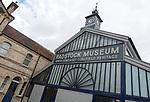 North Somerset coalfield heritage museum in old market building, Radstock, Somerset, England, UK