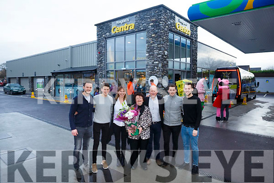 Horgans Centra Ardfert Official Opening Pictured l-r Rory Horgan, Denis Horgan, Norrie Horgan, Bernie Horgan, Brendan Horgan, Fionn Horgan and Colin Horgan