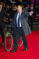 Boris Johnson arriving for a screening of 'Testament of Youth' during the 58th BFI London Film Festival at Odeon Leicester Square, London.  14/10/2014 Picture by: Dave Norton / Featureflash
