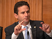 """United States Senator Brian Schatz (Democrat of Hawaii) questions the witnesses during the US Senate Committee on Banking, Housing and Urban Affairs hearing titled """"Implementation of the Economic Growth, Regulatory Relief, and Consumer Protection Act"""" on Capitol Hill in Washington, DC on Tuesday, October 2, 2018.<br /> Credit: Ron Sachs / CNP"""