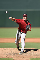 Arizona Diamondbacks pitcher Brent Jones (41) during an Instructional League game against the Oakland Athletics on October 10, 2014 at Chase Field in Phoenix, Arizona.  (Mike Janes/Four Seam Images)
