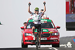 Benjamin King (USA) Team Dimension Data wins Stage 9, his 2nd stage win, of the La Vuelta 2018, running 200.8km from Talavera de la Reina to La Covatilla, Spain. 2nd September 2018.<br /> Picture: Unipublic/Photogomezsport | Cyclefile<br /> <br /> <br /> All photos usage must carry mandatory copyright credit (&copy; Cyclefile | Unipublic/Photogomezsport)