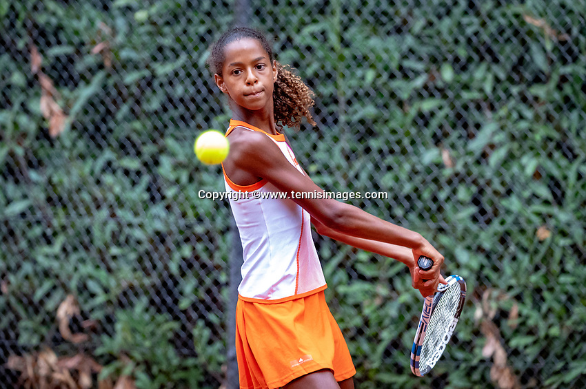 Hilversum, Netherlands, August 8, 2018, National Junior Championships, NJK, Jayden Lonwijk (NED)<br /> Photo: Tennisimages/Henk Koster