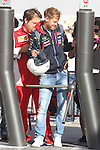 10.05.2014 Barcelona, Spain. FIA Formula 1 Spanish Grand Prix. Picture show Sebastian Vettel (GER) Infiniti Red Bull Racing