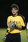 Duke goalkeeper Justin Papadakis on Tuesday, October 11th, 2005 at Duke University's Koskinen Stadium in Durham, North Carolina. The Duke University Blue Devils defeated the Western Illinois Leathernecks 2-0 during an NCAA Division I Men's Soccer game.