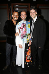 Jerry Dixon, Curtis Holbrook and Tom Kitt during the Broadway Opening Night  AEA Gypsy Robe Ceremony honoring Curtis Holbrook for  'IF/THEN' at the Richard Rodgers Theatre on March 30, 2014 in New York City.