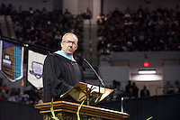 SEC Commissioner Greg Sankey addresses fall 2016 graduates at Mississippi State University&rsquo;s commencement ceremony on Friday [Dec.9] at Humphrey Coliseum. <br />  (photo by Beth Wynn / &copy; Mississippi State University)