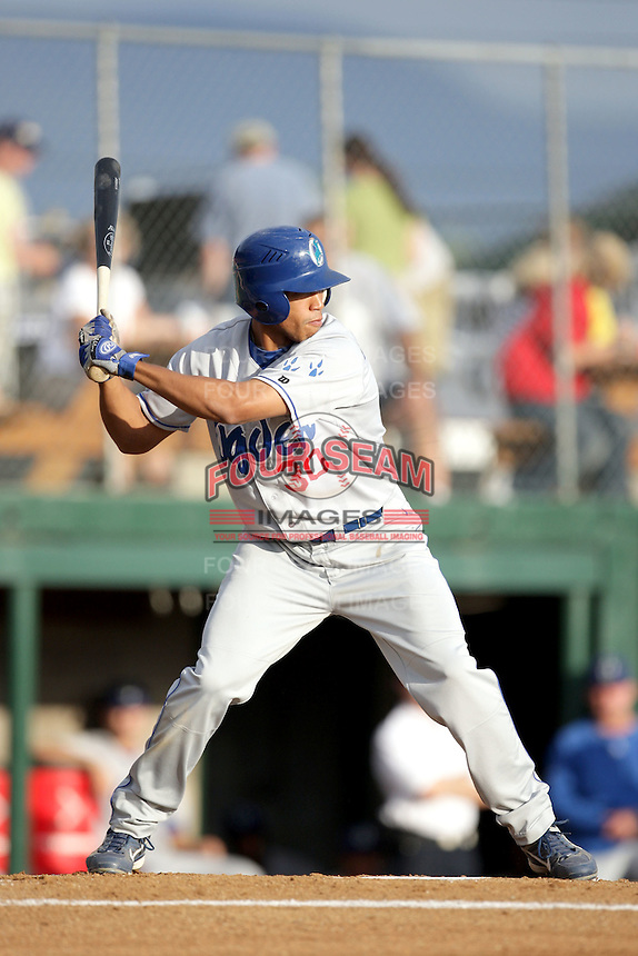 August 12, 2009: Brian Cavazos-Galvez of the Ogden Raptors. The Ogden Raptors are the Pioneer League affiliate of the Los Angeles Dodgers. Photo by: Chris Proctor/Four Seam Images