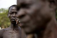 Farmers at work in Nyori refugee camp, South Sudan.