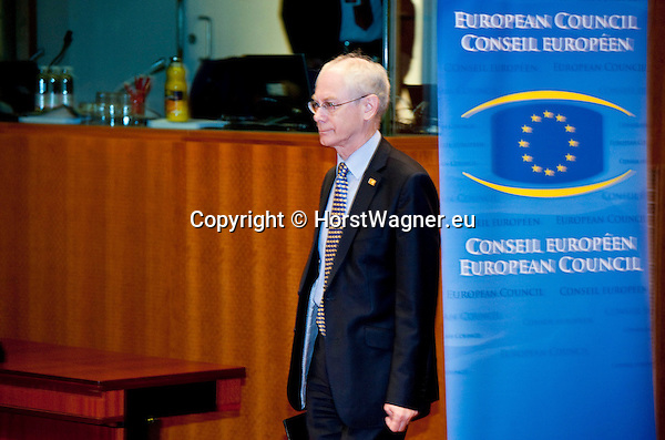 Brussels-Belgium - March 02, 2012 -- European Council, EU-summit during Danish Presidency; here, Herman Van ROMPUY, President of the European Council, entering the plenary -- Photo: © HorstWagner.eu