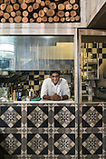 The chef poses for a photo at the kitchen of the Nico Bombay restaurant in Kala Ghoda in Mumbai, India. Photo: Sanjit Das/Panos