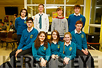 KERRY SCIENCE: Students from Mercy Mounthawk who participated in the Senior science quiz at Tralee IT on Thursday evening pictured here are Front l-r Darragh Clarke, Nessa Mcgerty, Lauren O Grady, Rachel Bowler, Diarmuid O'Connor Back l-r Nick Lacvlad, John Holmes, Eoin O Buachalla and Daniel Curtin