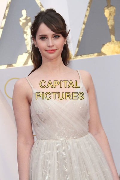 26 February 2017 - Hollywood, California - Felicity Jones. 89th Annual Academy Awards presented by the Academy of Motion Picture Arts and Sciences held at Hollywood &amp; Highland Center. <br /> CAP/ADM<br /> &copy;ADM/Capital Pictures