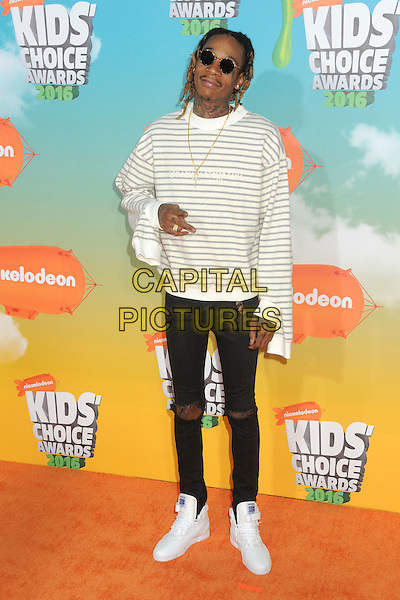 12 March 2016 - Inglewood, California - Wiz Khalifa. 2016 Nickelodeon Kids' Choice Awards held at The Forum.  <br /> CAP/ADM/BP<br /> &copy;BP/ADM/Capital Pictures