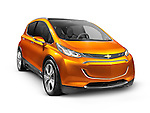 2015 Chevrolet Bolt EV concept electric car isolated on white background with clipping path