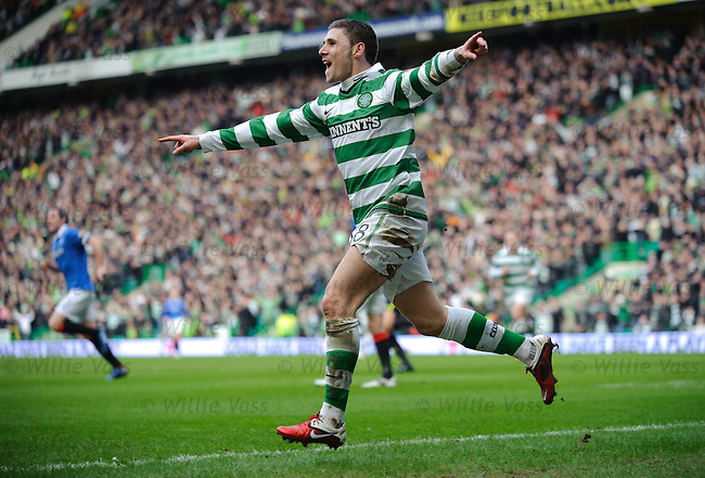 Gary Hooper celebrates his second goal