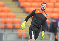 Blackpool's Mark Howard during the pre-match warm-up <br /> <br /> Photographer Kevin Barnes/CameraSport<br /> <br /> The EFL Sky Bet League One - Blackpool v Oxford United - Saturday 23rd February 2019 - Bloomfield Road - Blackpool<br /> <br /> World Copyright © 2019 CameraSport. All rights reserved. 43 Linden Ave. Countesthorpe. Leicester. England. LE8 5PG - Tel: +44 (0) 116 277 4147 - admin@camerasport.com - www.camerasport.com