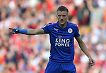Jamie Vardy of Leicester City during the Premier League match at Anfield Stadium, Liverpool. Picture date: September 10th, 2016. Pic Simon Bellis/Sportimage