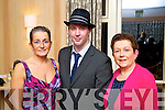 Christine Fitzgerald Ballyseedy Brian Hurley (Tralee) and Kay McCarthy (Tralee) pictured at the Hats and Heels fundraiser event on Saturday night in Ballygarry House Hotel & Spa, Tralee.