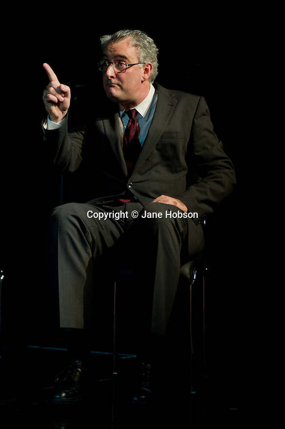 "London, UK. 16/11/2011. ""A Walk On Part"" opens at the Soho Theatre. The play is based on the diaries of MP Chris Mullin. Picture shows John Hodgkinson as Chris Mullin MP. Photo credit: Jane Hobson"