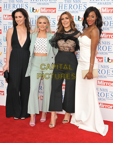 Julia Goulding, Lucy Fallon, Kym Marsh and Victoria Ekanoye at the NHS Heroes Awards 2018, London Hilton on Park Lane Hotel, Park Lane, London, England, UK, on Monday 14 May 2018.<br /> CAP/CAN<br /> &copy;CAN/Capital Pictures
