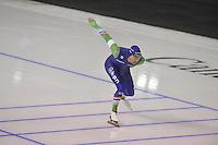 SPEEDSKATING: CALGARY: 15-11-2015, Olympic Oval, ISU World Cup, 1500m, Kjeld Nuis (NED), ©foto Martin de Jong