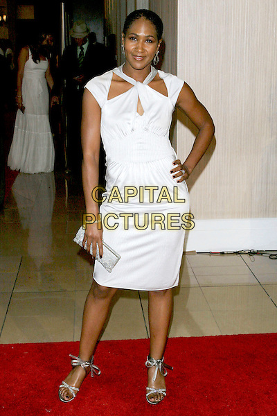 TERRI VAUGHN.Women In Film presents Fusion, The 2005 Crystal and Lucy Awards An Evening Celebrating Partnership held at the Beverly Hilton, Beverly Hills, CA, USA, .10th June 2005..full length white dress.Ref: ADM.www.capitalpictures.com.sales@capitalpictures.com.©Jacqui Wong/AdMedia/Capital Pictures.