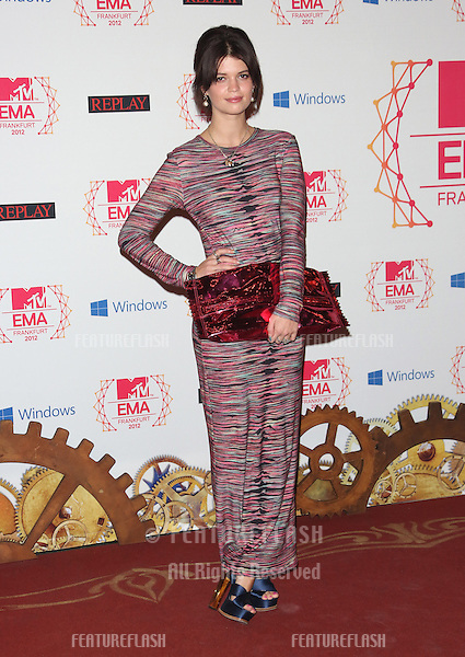Pixie Geldof arriving for the The MTV EMA's 2012 held at Festhalle, Frankfurt, Germany. 11/11/2012 Picture by: Henry Harris / Featureflash