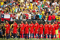 Action photo during the match Colombia vs Chile, corresponding to the semifinals of the America Cup Centenary 2016, at Soldier Field Stadium.<br /> <br /> Foto de accion durante el partido Colombia vs Chile correspondiente a la Semifinales de la Copa America Centenario 2016, en el Estadio Soldier Field, en la foto: Seleccion de Chile<br /> <br /> <br /> 22/06/2016/MEXSPORT/Jorge Martinez