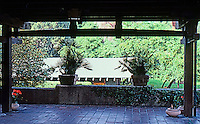Greene & Greene: Gamble House. Porch.  Photo '85.