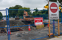 Construction at the intersection of Waterworks Sideroad and Lakeshore Road, Brights Grove