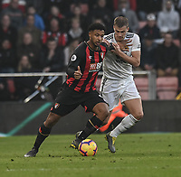 Wolverhampton Wanderers' Ryan Bennett (right) battles with Bournemouth's Lys Mousset (right) <br /> <br /> Photographer David Horton/CameraSport<br /> <br /> The Premier League - Bournemouth v Wolverhampton Wanderers - Saturday 23 February 2019 - Vitality Stadium - Bournemouth<br /> <br /> World Copyright © 2019 CameraSport. All rights reserved. 43 Linden Ave. Countesthorpe. Leicester. England. LE8 5PG - Tel: +44 (0) 116 277 4147 - admin@camerasport.com - www.camerasport.com