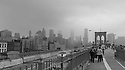 View at the New York Skyline from Brooklyn Bridge