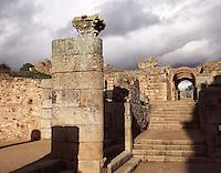 Principal way to the roman amphiteatre dated 8 BC, Merida (Augusta Emerita, Capital of Hispania Ulterior), Extremadura, Spain