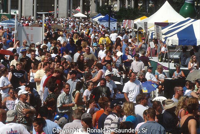 PEOPLE AT TASTE OF COLORADO FESTIVAL IN DENVER COLORADO