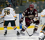 "19 January 2007: Boston College forward Brian Boyle from Hingham, MA, in action during a Hockey East matchup against the University of Vermont at Gutterson Fieldhouse in Burlington, Vermont. The UVM Catamounts defeated the BC Eagles 3-2 before a record setting 50th consecutive sellout at ""the Gut""...Mandatory Photo Credit: Ed Wolfstein Photo."