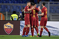 Henrikh Mkhitaryan of AS Roma celebrates with team mates after scoring the goal of 2-0 <br /> Roma 23/02/2020 Stadio Olimpico <br /> Football Serie A 2019/2020 <br /> AS Roma - Lecce<br /> Photo Andrea Staccioli / Insidefoto