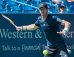 Andy Murray (GBR) defeats Joao Sousa (POR)  6-3, 6-3 at the Western & Southern Open in Mason, OH on August 13, 2014.