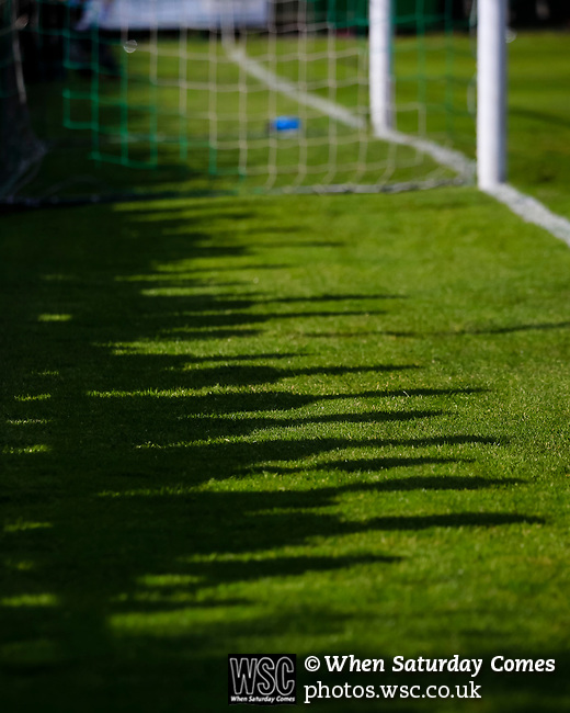 Shadows of fans cast onto the pitch. Vanarama National League North, Promotion Final, North Ferriby United v AFC Fylde, 14th May 2016.