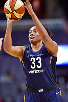 Washington, DC - June 3, 2018: Connecticut Sun forward Morgan Tuck (33) shoots a jumpshot during game between the Washington Mystics and Connecticut Sun at the Capital One Arena in Washington, DC. (Photo by Phil Peters/Media Images International)