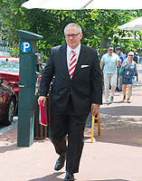 Michael Caputo, a Republican political strategist and media consultant, walks on Capitol Hill prior to his testimony before the United States House Permanent Select Committee on Intelligence as part of their investigation into Russian interference in Washington, DC on Friday, July 14, 2017.<br /> Credit: Ron Sachs / CNP /MediaPunch