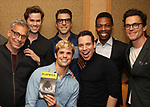 Joe Mantello, Andrew Rannells, Charlie Carver, Zachary Quinto, Robin De Jesus, Michael Benjamin Washington and Matt Bomer attend Broadway's 'Boys in the Band' hosted Midnight Performance of 'Three Tall Women' to Honor Director Joe Mantello at the Golden Theatre on May 17, 2018 in New York City.