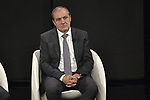 Mauro Vegni Race Director at the Presentation of the Grand Start of the 102nd edition of the Giro d'Italia 2019 held in the RAI TV studios, Milan, Italy. 31st October 2018.<br /> Picture: LaPresse/Marco Alpozzi | Cyclefile<br /> <br /> <br /> All photos usage must carry mandatory copyright credit (&copy; Cyclefile | LaPresse/Marco Alpozzi)