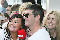 28/6/2010. The X Factor Judge Simon Cowell is pictured arriving at the Dublin Convention center Spencer Dock. Picture James Horan/Collins.
