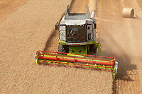 Claas Tucano 430 combine working in Suffolk<br />