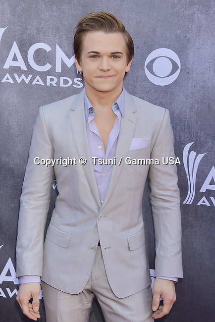 Hunter Hayes 108 at the  ACM Awards 2014 at the MGM Grand in Las Vegas.
