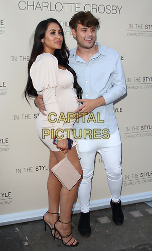 Marnie Simpson and Casey Johnson at the Charlotte Crosby In The Style Launch Party at Nikki's Bar, Hoxton Square, London on July 4th 2019<br /> CAP/ROS<br /> ©ROS/Capital Pictures