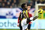Nederland, Arnhem, 16 december  2012.Eredivisie.Seizoen 2012/2013.Vitesse-RKC.Wilfried Bony van Vitesse in duel om de bal met Imad Najah van RKC